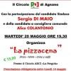 MARTEDI' 20 ORE 19.30 PIZZACENA AL CIRCOLO DI AGNANO CON SERGIO DI MAIO